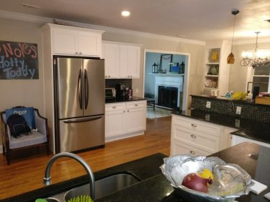 White Shaker Kitchen Cabinet Refacing After