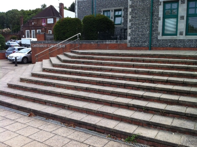 Canterbury Crown Court Loose Paving on Steps 5
