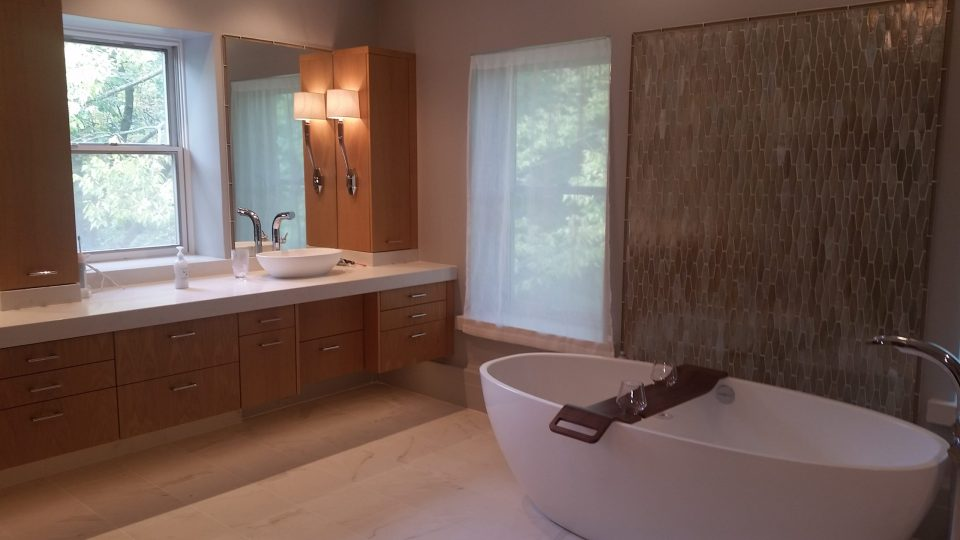 custom spa-like bathroom cabinetry