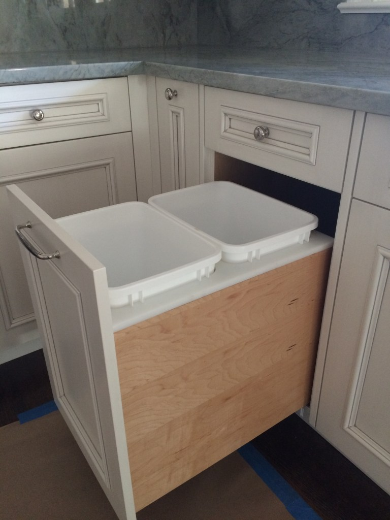 base cabinet trash pull out accessory