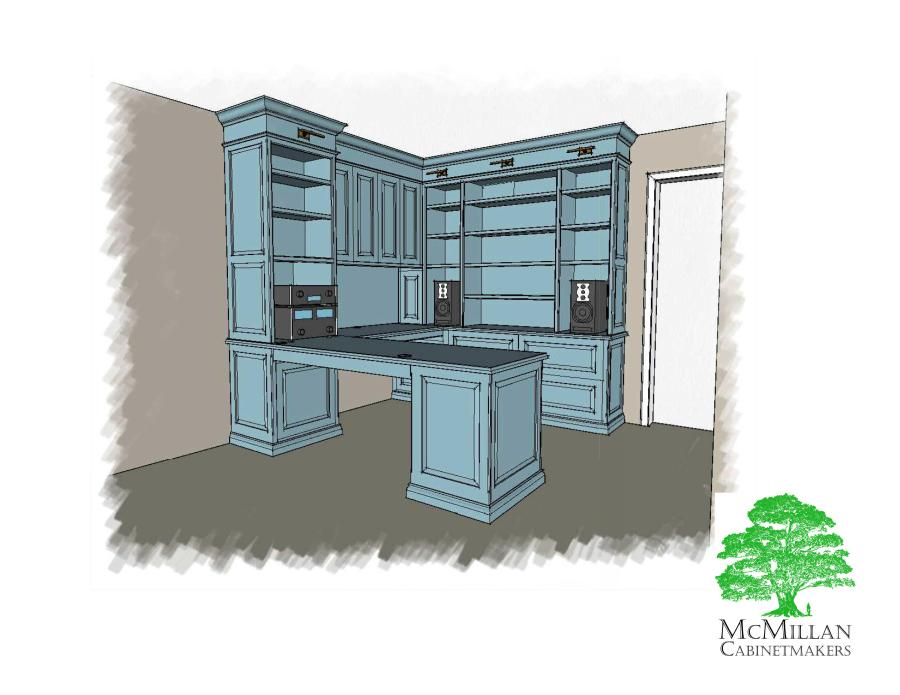 custom storage home office