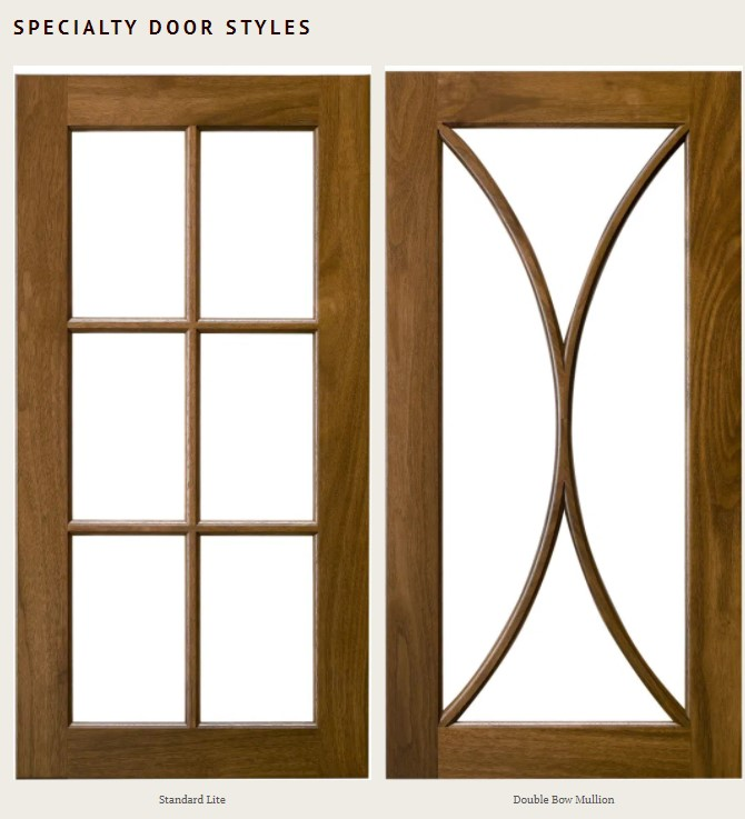 Design remotely with specialty door styles