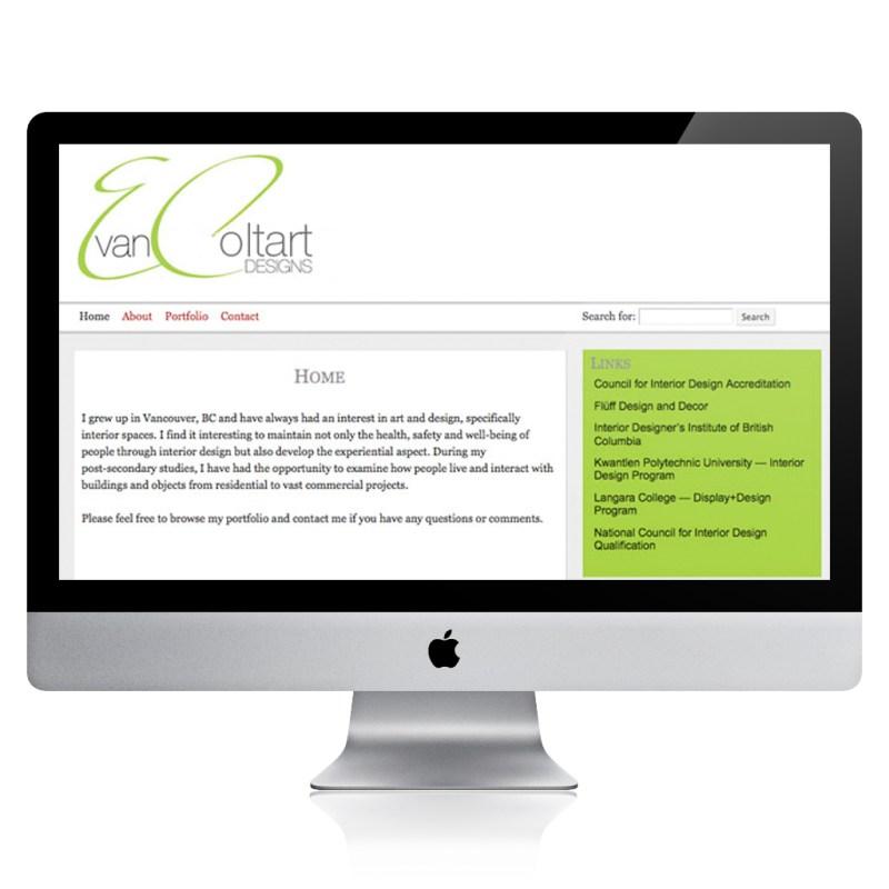 Evan Coltart Designs website