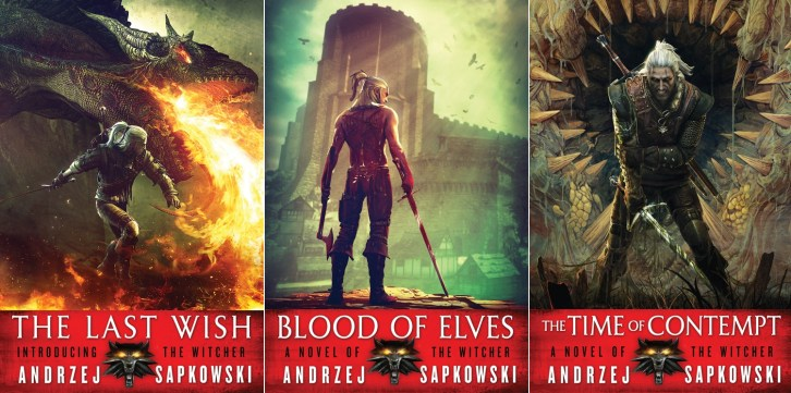 The Witcher - US book covers