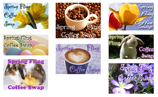 Blog buttons for Spring Fling Coffee Swap