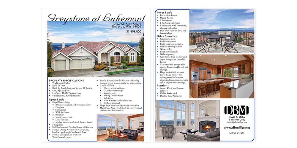 Real estate one-sheet flyer