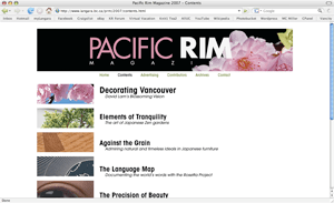 Pacific Rim Magazine 2007 - website