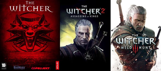 The Witcher - video game cover art