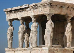 Οι Καρυάτιδες στο Ερέχθειο της Ακρόπολης