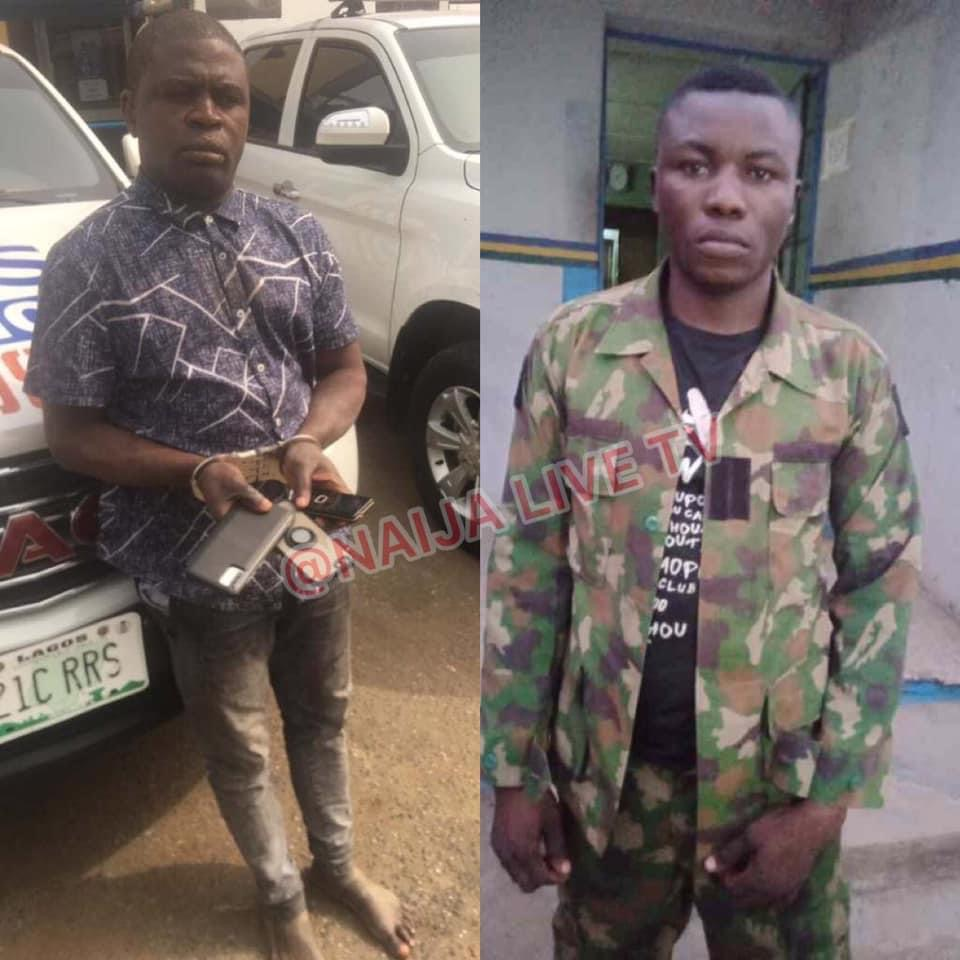 I have stolen 240 phones from commuters in 14 months Pick pocket …As dismissed soldier in Army uniform nabbed for robbery in Lagos