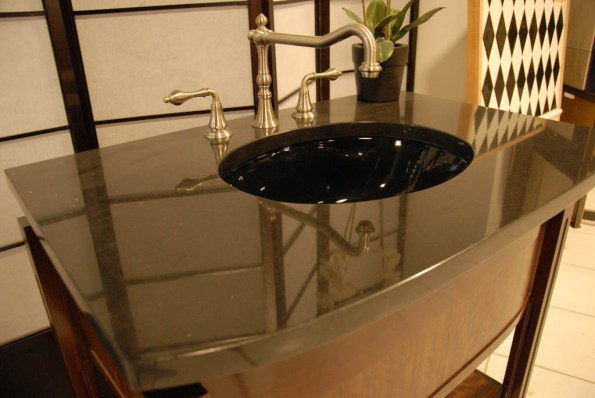 Showroom Black Granite Sink Basen