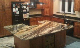 magma gold granite kitchen countertop