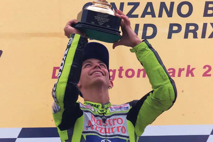 Rossi takes his first premier class victory