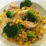 One Dish Meal: Pearl Couscous with Chicken and Broccoli