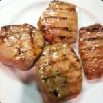 Grilled Pork Chops with Brown Sugar Glaze
