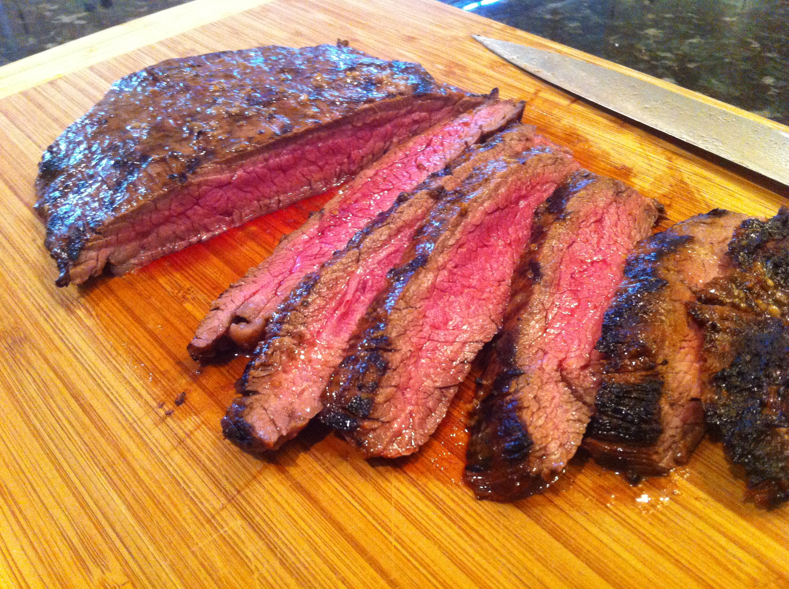 Grilled Flank Steak with Lime, Honey and Garlic