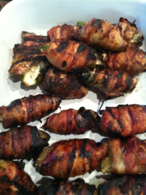 Marinated Bacon Wrapped Chicken Thighs