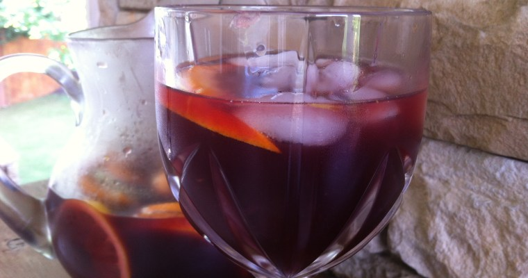 Red Wine Sangria with Rum – not for the faint at heart!