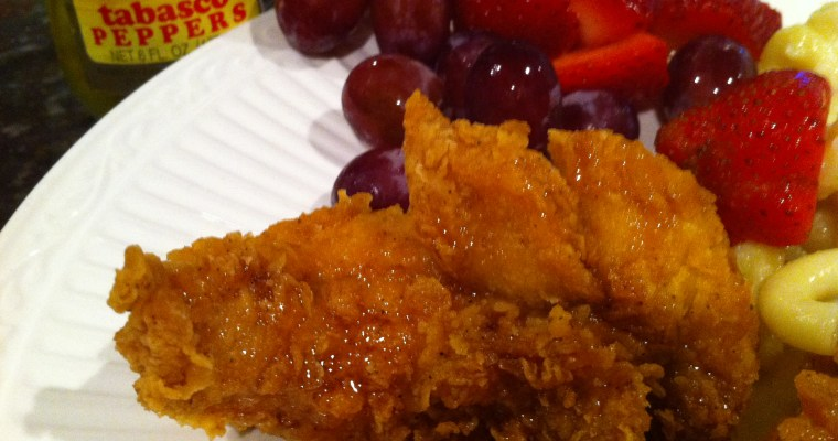 Fried Chicken with Honey and Tabasca Pepper Sauce