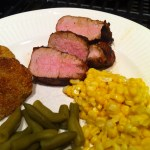 Southern Menu Idea: Pork Tenderloin with fried green tomatoes, skillet corn and green beans (add pic)