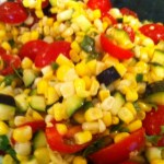 Corn, Tomato and Zucchini Salad