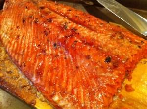 salmon smoked on big green egg