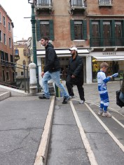An orienteering event was happening in central Venice. Pete remembers being this lost little lad!