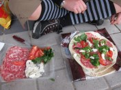 Italian lunch. Piadine. mmm.