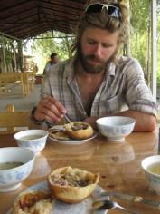 Mmmm... Kyrgyz somsa - something like a cornish pasty!