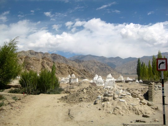 On the way out of Leh