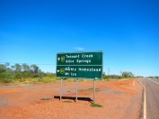 The only bit of navigation in 3 weeks on the road - 1000kms from Darwin, turn left.