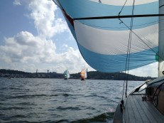 Took part in a sailing competition in Lahti