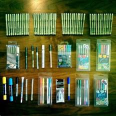 Got heaps of new pens!
