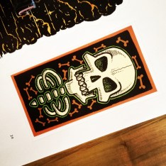 One of my designs in the Stickerbomb Skulls book.