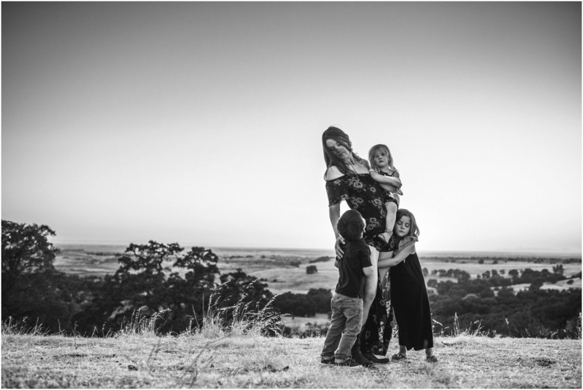 family of 4 in sunset | Jacksonville Children Photographer