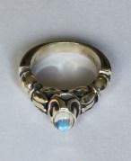 Ring: silver, moonstone