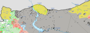 Rojavan forces surging towards Tall Abyad in the East.