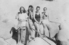 Lesley, Jack & friends, Clifton, early 1950s