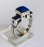 Dwelling Place: Ring; silver, lapis lazuli