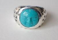 Blue Moon Ring: silver, turquoise