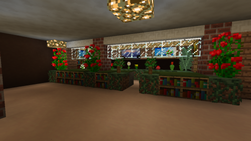 A flower shop? In a library? Sure, why not.