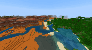 HUGE Mesa With Many Cool Things Nearby! | Seeds Minecraft PE