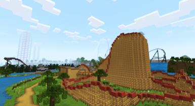 Terra Land [Roller Coaster]   Minecraft PE Map