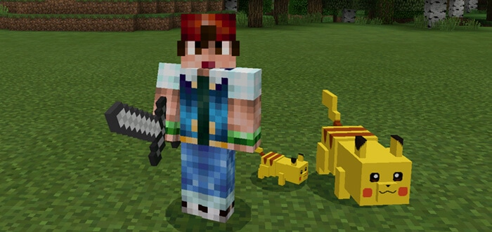 Pikachu and Raichu Add-on for Minecraft Pe