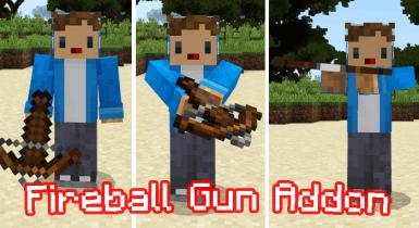 Fireball Gun Addon for Minecraft Pe