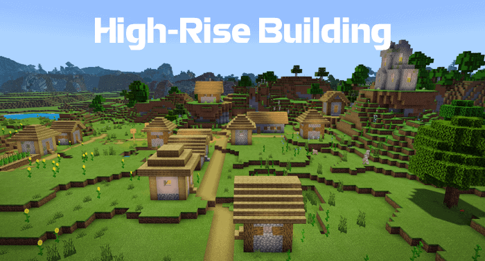 High-Rise Building in a Village