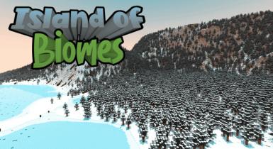 Island of Biomes (Custom Terrain) | MCPE Maps