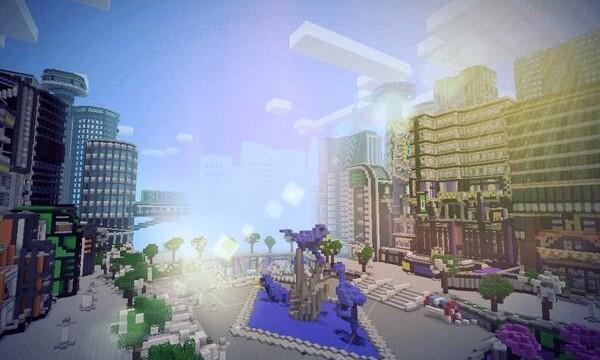 Futuristic City Minecraft PE Maps