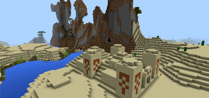 111 Double Temple Amp Extreme Mountains Minecraft PE Seeds