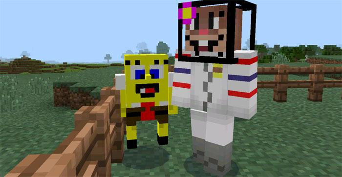 SpongeBob Mobs Mod Minecraft PE Mods Amp Addons